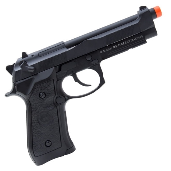 Pistola a Gás GBB Green Gas Beretta M9A1 Black Full Metal + Case